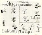 Model sheet 350-8021 flower suggestions daffodils lilies tulips blog