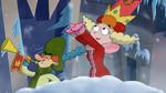 Queen Delightful and Starchbottom on Frozen Castle