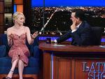 Emma Stone visits Stephen Colbert