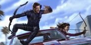 Hawkeye - Concept Art - Clint Barton and Kate Bishop