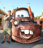 Larry the Cable Guy with Mater statue