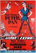 Peter pan finnish poster original
