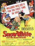 Snow white uk poster 1954