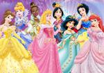 Jeweled disney princesses