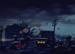 Casey junior arriving in town at night 1941