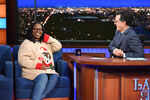 Whoopi Goldberg visits Stephen Colbert