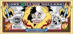 Cruella's One Villain dollar bill