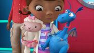 Lambie and stuffy wearing wristbands