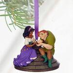 Disney The Hunchback of Notre Dame Quasimodo and Esmeralda Sketchbook PVC Christmas Tree Holiday Ornament