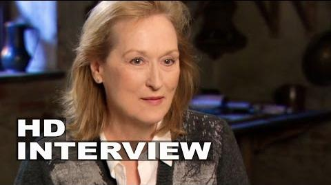 "Into the Woods Meryl Streep ""Witch"" Behind the Scenes Movie Interview 2"