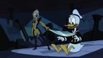 Donald Duck wird bedroht