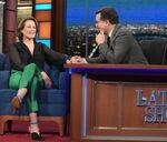 Sigourney Weaver visits Stephen Colbert