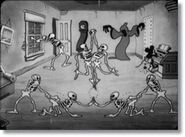The Grim Reaper orchestrates his own skeleton dance