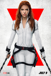 Black Widow - White Poster