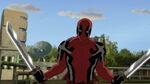Deadpool with blades
