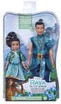 Young Raya and Chief Benja dolls