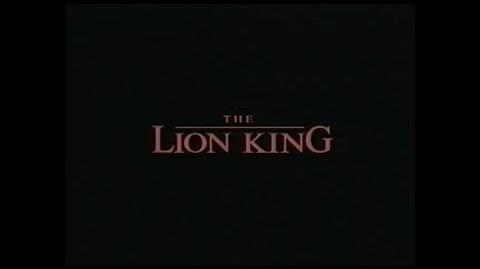The Lion King - Sneak Peek (from The Fox & the Hound 1994 VHS)
