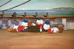 Huey dewey and louie dozing off