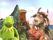 Kermit, Bad Polly, Mad Monty and Clueless Morgan in Muppet Treasure Island Sing-Alongs