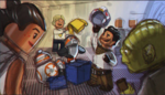 Rey, Yoda, Poe, BB-8 and Luke - The LEGO Star Wars Holiday Special Concept Art