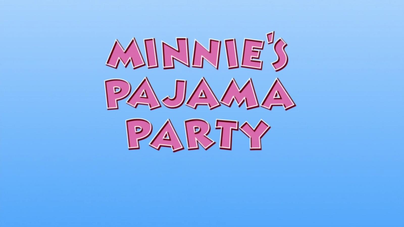 A Festa do Pijama da Minnie