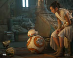 Rey, BB-8 and D-O