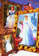 Cinderela, her mother and Prince Charming's mother as brides