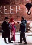 Robert Zemeckis on set with Doom and Jessica