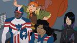 Marvel Rising Secret Warriors - Patriot, Squirrel Girl, Tippy-Toe, America Chavez and Quake