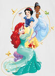 Snow White, Ariel and Tiana