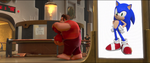 Sonic in Wreck it Ralph