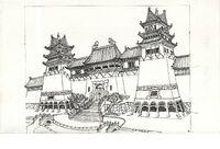 AdventuresOfTheGummiBears-TheMagnificentSevenGummies-BackgroundConceptArt-Shangwu01