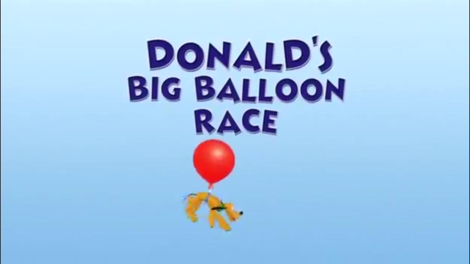A Grande Corrida de Balões do Donald