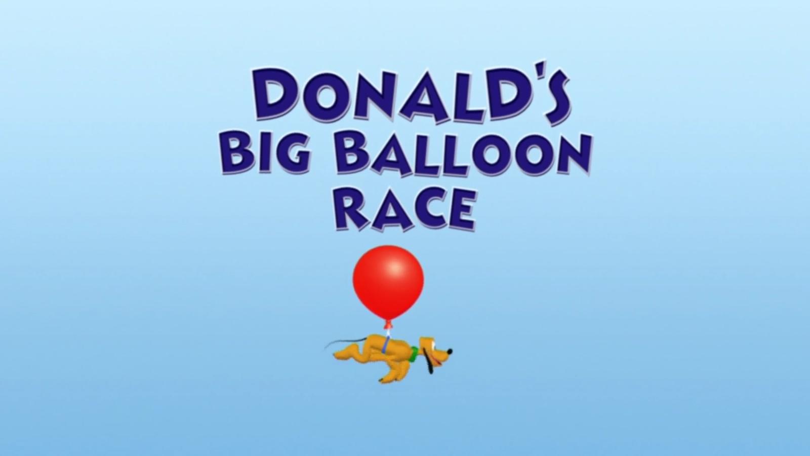 Donald's Big Balloon Race