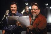 Nathan Lane Ernie Sabella behind the scenes of TLK
