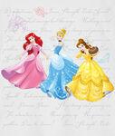 Ariel, Cinderella and Belle