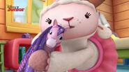 Lambie gives joni a cuddle