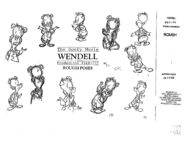 Wendell Goofy Movie Model Sheet
