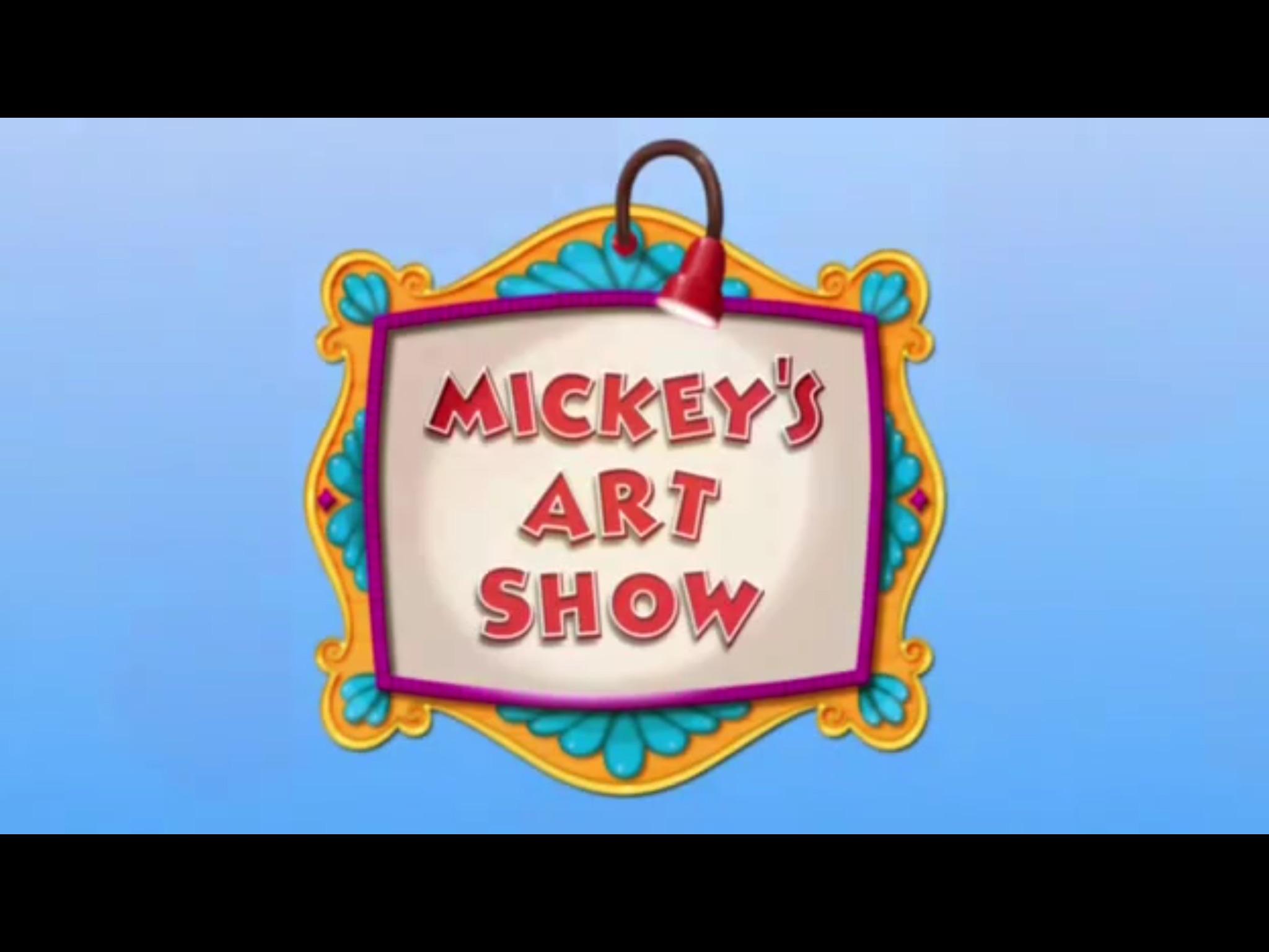 Mickey's Art Show