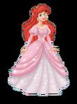 Ariel pink gown