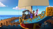 Mateo, Rebecca & Valentina on the birthday cruise
