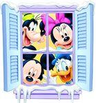 Mickey Goofy Donald Minnie Christmas Window