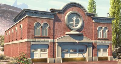 Radiator Springs Gerichtsgebäude und Feuerwahr.png