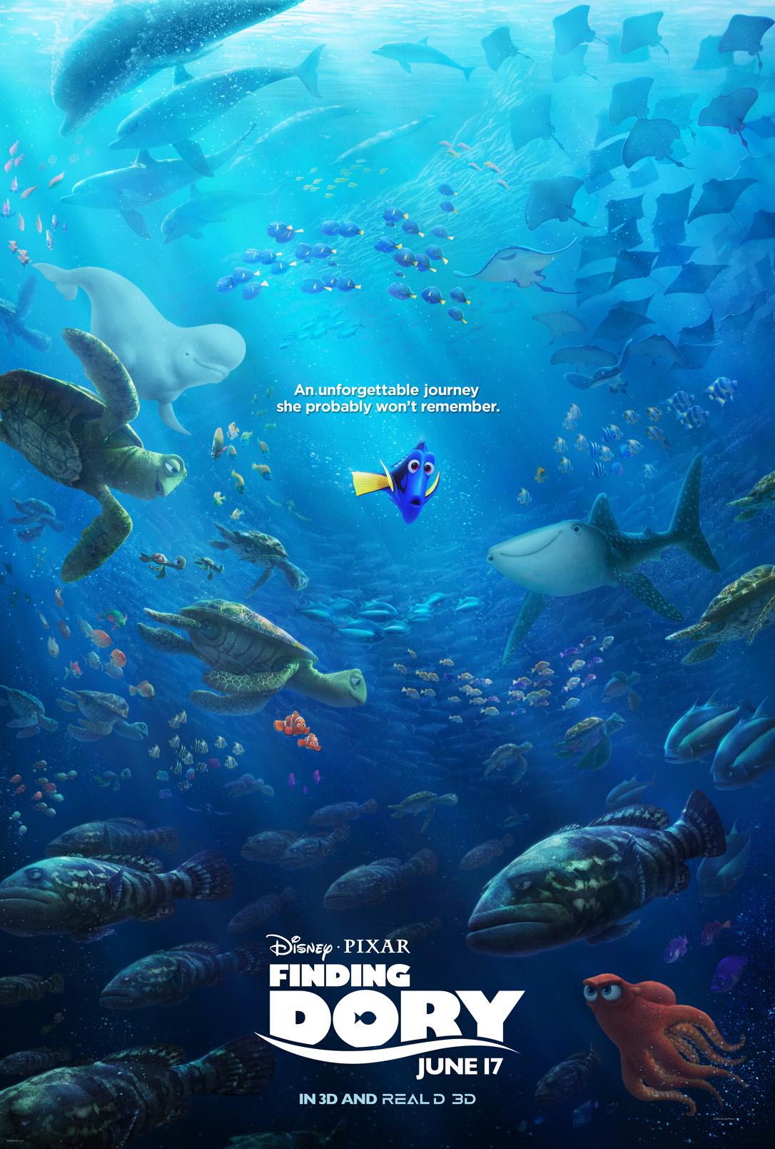 Disney//Pixar Dory Finding Dory Nemo 2-Way Ballpoint Pen 2 Colors Black /& Red Ink