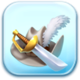 Feathered Hat and Sword Token