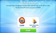Me-striking gold-42-prize