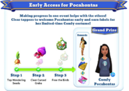 Me-early access for pocahontas-objective