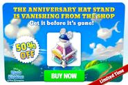 Promo-anniversary hat stand-50