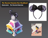 Bc-the haunted mansion ears headband stand-c