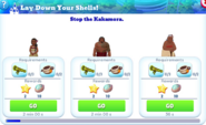 Q-lay down your shells-